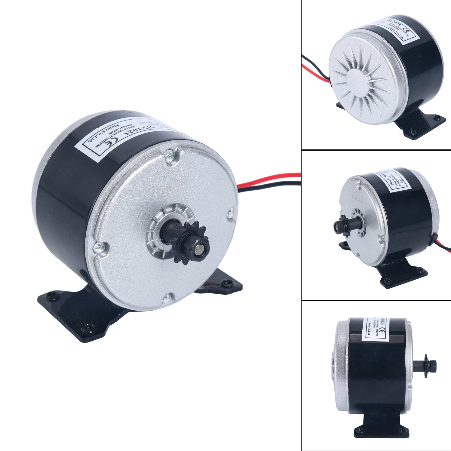 Yaegoo 24V Electric Motor Brushed 250W 2750RPM Chain For E Scooter Drive Speed Control