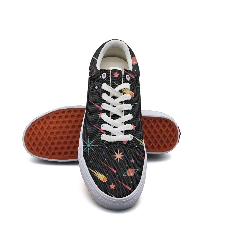 Ouxioaz Womens Skateboarding Shoes Solar System Space Doodles Skate Shoe