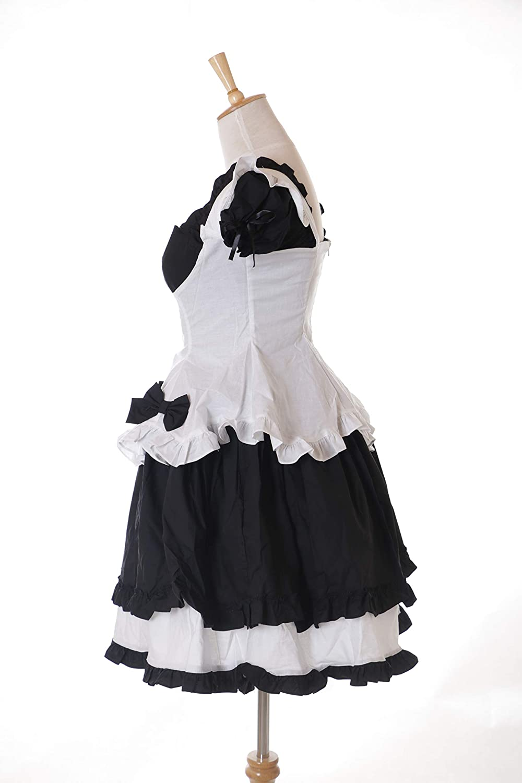 Zimmermädchen Gothic Lolita Kleid Cosplay Kostüm JL-674 Maid Zofe Schwarz 6-TLG
