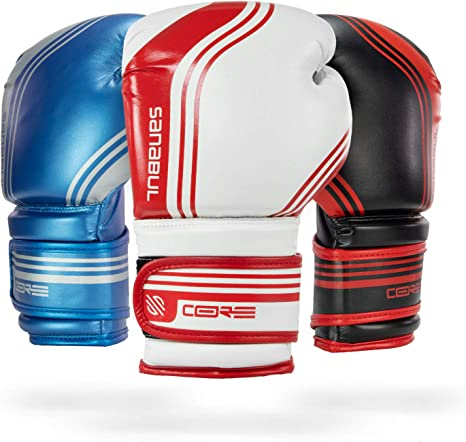 Sanabul Core Boxing Gloves White Red 14 Oz Amazon Co Uk Sports Outdoors