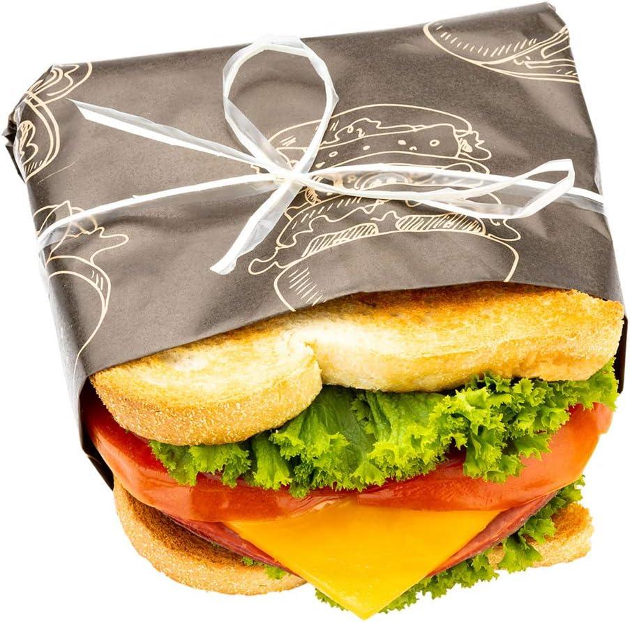 "Greaseproof Paper Food Wrap, Basket Liner, Sandwich Wrap, Bakery Wrap - Bon Appetit - 12"" x 12"" - 500ct Box - Restaurantware"
