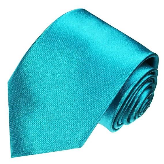 LORENZO CANA - Turquesa marcas corbata de seda 100% - Corbata ...
