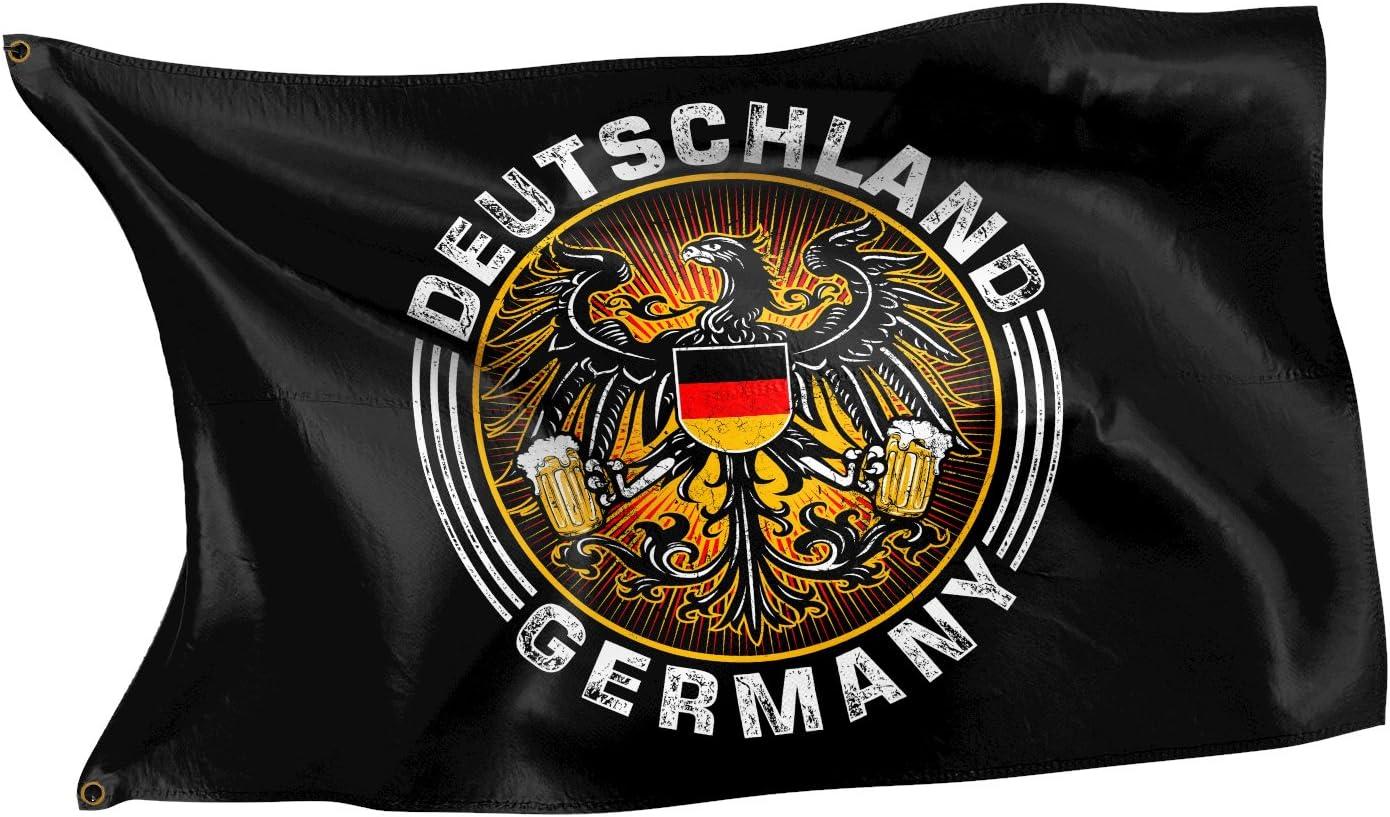Bandera con diseño original de Rahmenlos® Bandera de Alemania con águila.: Amazon.es: Jardín