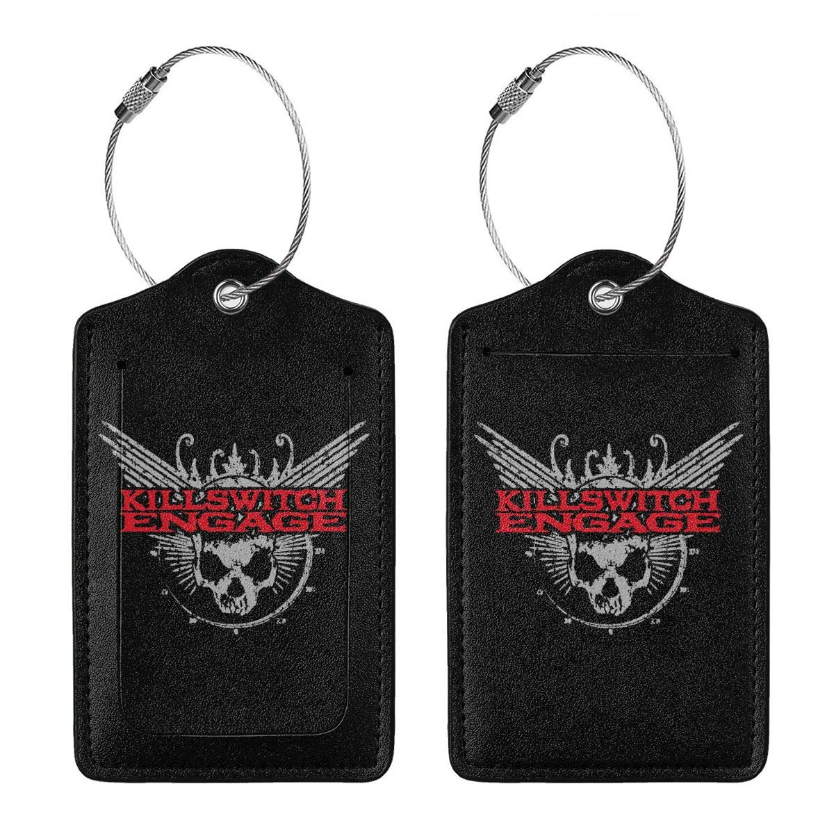 Killswitch Engage Logo Leather Luggage Tag Travel ID Label For Baggage Suitcase