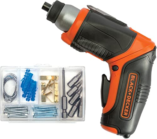 BLACK DECKER 4V MAX Cordless Screwdriver, Rechargeable BDCS40BI