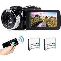 2,7K camcorder Oplaadbare vlogging-videocamera LED-invullicht 30FPS FHD 42MP 3,0 inch LCD-draaibaar scherm Camcorder met…
