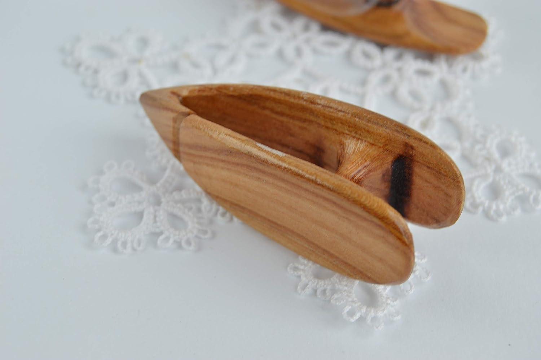 Wooden Tatting Shuttle Handmade tatted lace