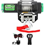 OFF ROAD BOAR 4500LB.Load Capacity Electric Winch Kit for ATV/UTV, 12V IP67 Waterproof Powersports Winch with Hawse…