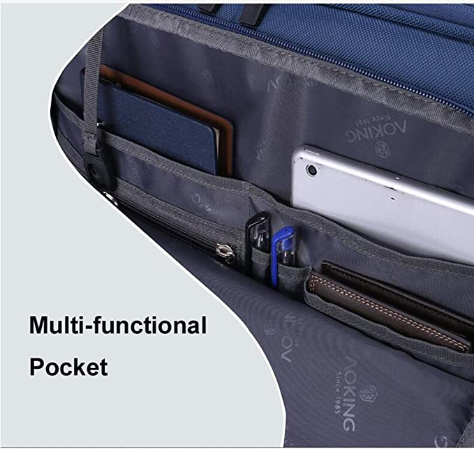 PINCHU Trolley Laptop Bag Business - Maleta De 4 Ruedas con Capacidad para Computadora, Maletín De Múltiples Bolsillos, Estuche con Ruedas,Blue: Amazon.es: ...