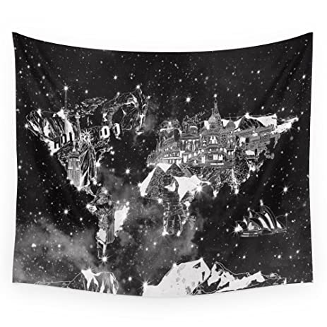 Amazon society6 world map galaxy black and white wall tapestry society6 world map galaxy black and white wall tapestry medium 68quot gumiabroncs Images