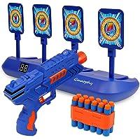 Digital Shooting Targets with Foam Dart Toy Shooting Blaster , 4 Targets Auto Reset Electronic Scoring Toys, Shooting…