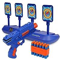 Digital Shooting Targets with Foam Dart Toy Shooting Blaster , 4 Targets Auto Reset...