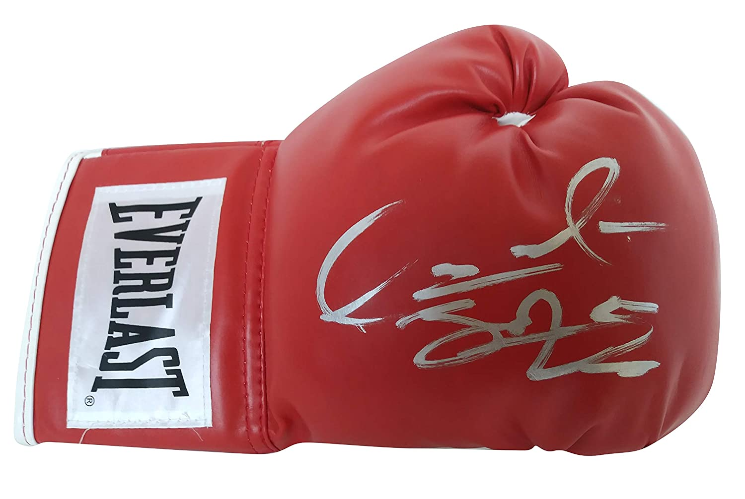WBC World Heavyweight Champion Deontay Wilder Autographed Hand Signed Everlast Red Left-Handed Boxing Glove with Proof Photo of Signing and COA
