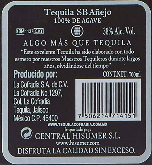 Cofradia Tequila Single Barrel Reserva Especial - 700 ml ...