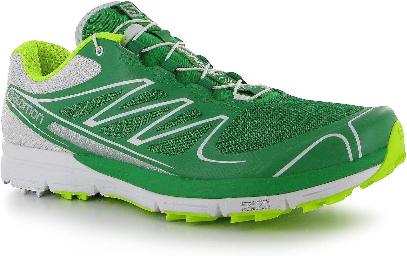 Salomon - Zapatillas de Running para Hombre Green/Wht/Yell, Color Verde, Talla 11 UK: Amazon.es: Zapatos y complementos