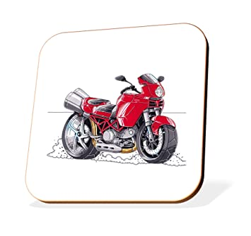 K1901 Cst Koolart Gifts Cartoon Ducati Multistrada Motorcycle Wooden