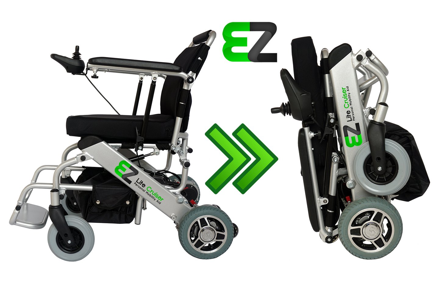 EZ Lite Cruiser - Standard Model - Personal Mobility Aid - Light Weight Folding Power Wheelchair by Ez lite cruiser
