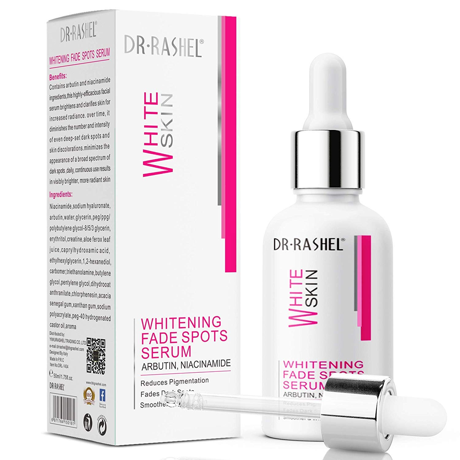 Dark Spot Corrector Remover for Face and Body, Reduces & Fades Spots- Formulated with Arbutin & Niacinamide (50 ml)