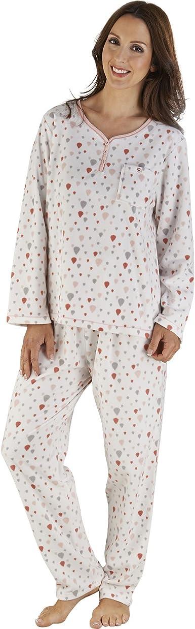 Pyjama Set Pyjamas PJs Winter Nightwear Size 10-22 Womens Ladies Loungewear