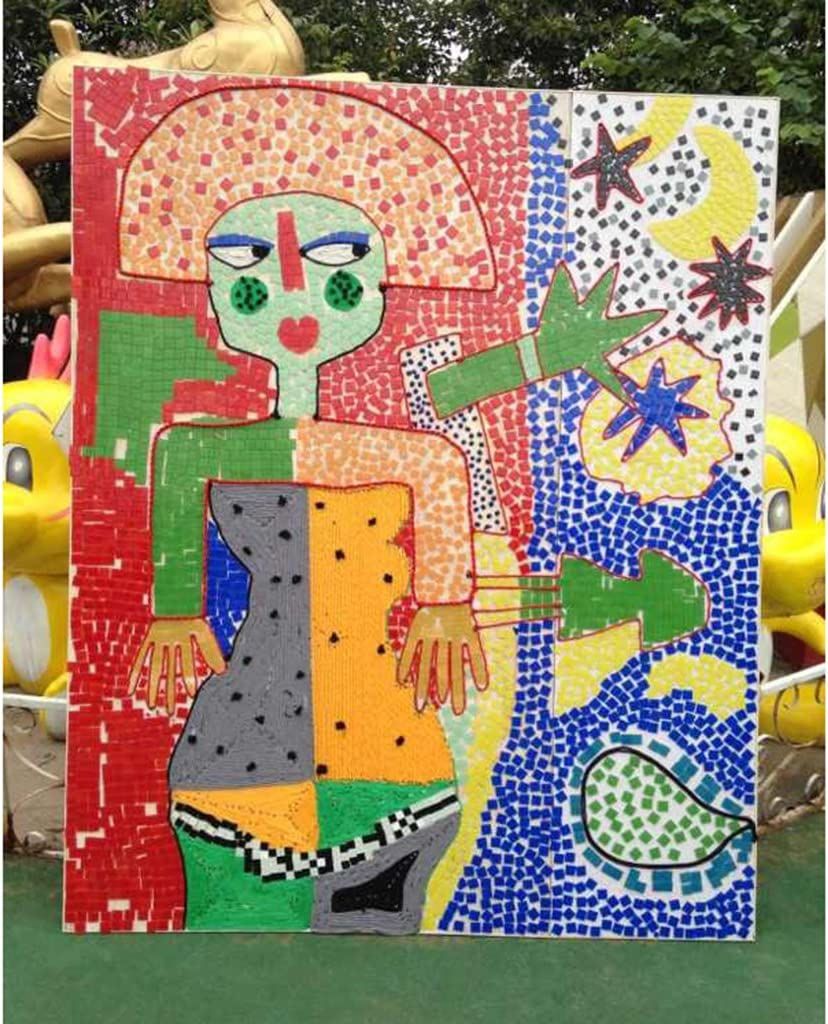 250 St/ück Fliesen Mosaik Mosaikfliese Quadrat Bad Pool Glas Grau