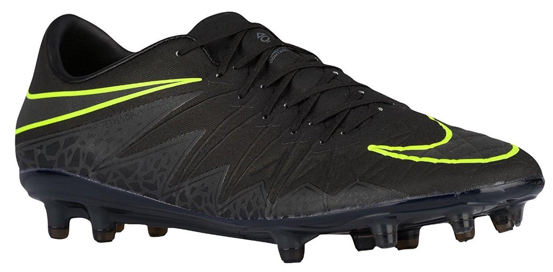 Nike Herren Hypervenom Phinish FG Fuszlig;ballschuhe  42 EU|Negro (Negro (Black/Black-mtlc Hematite))