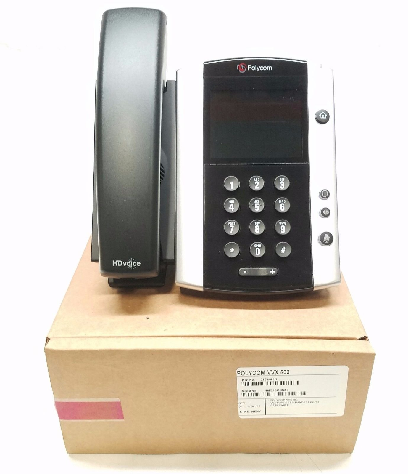 Polycom VVX 500 12-line Business Media Phone, Power Supply Not Included (Certified Refurbished)