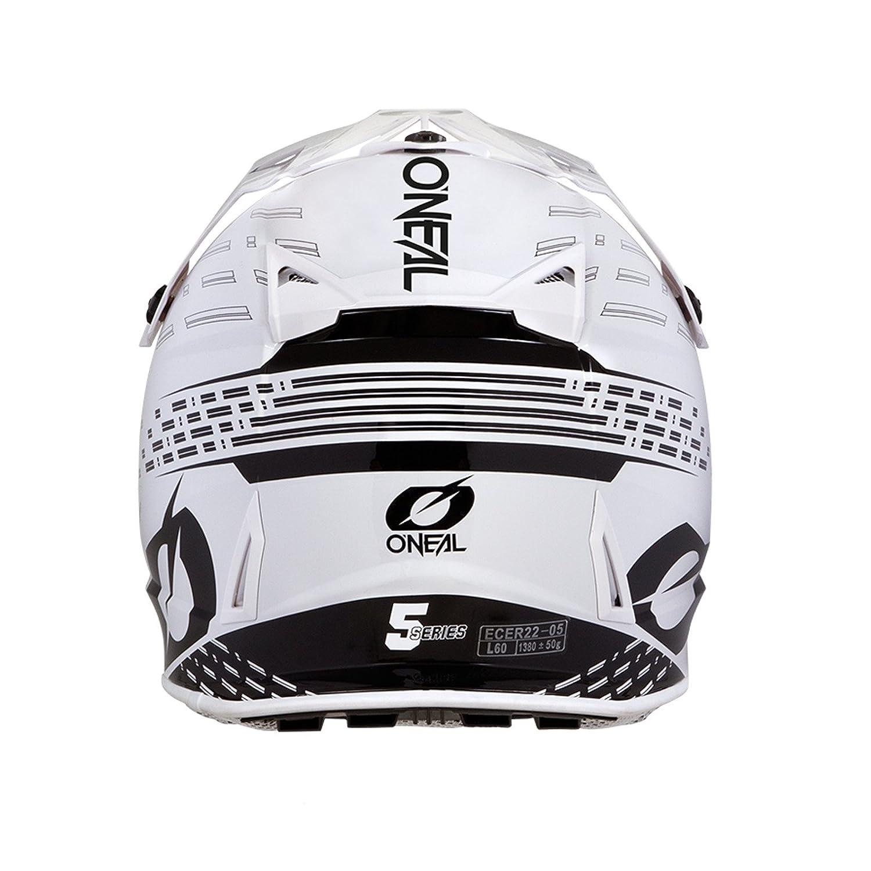 0618 Gr/ö/ße M Farbe Schwarz Wei/ß ONeal 5Series Trace Motocross Helm Motorrad MX Enduro Trail Quad Cross Offroad
