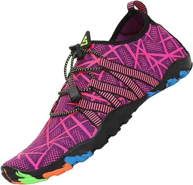 Barefoot Sport Chaussure Plage Plongee//Surf Sykooria Chaussures deau Homme Femme Chaussures Aquatiques Chaussures pour Plong/ée Respirant Antid/érapant S/échage Rapide