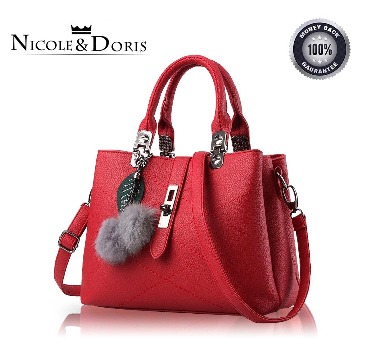 Nicole&Doris new wave packet Messenger bag ladies handbag female bag handbags for women(Claret red)