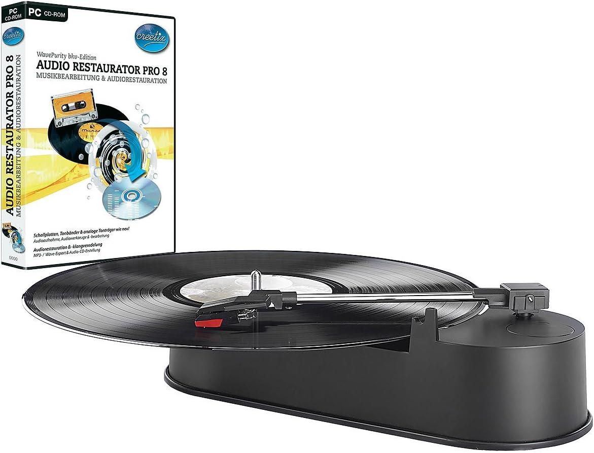 Q-Sonic compacto USB-Mini-tocadiscos Audio incluido-grabaciones 5 ...