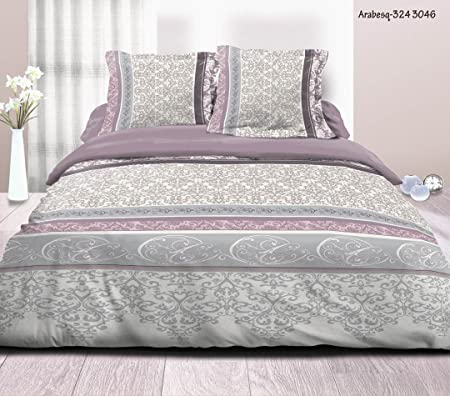 3-Piece Bedding Set For Double Bed Size 220 x 240 cm - 100% Cotton ...