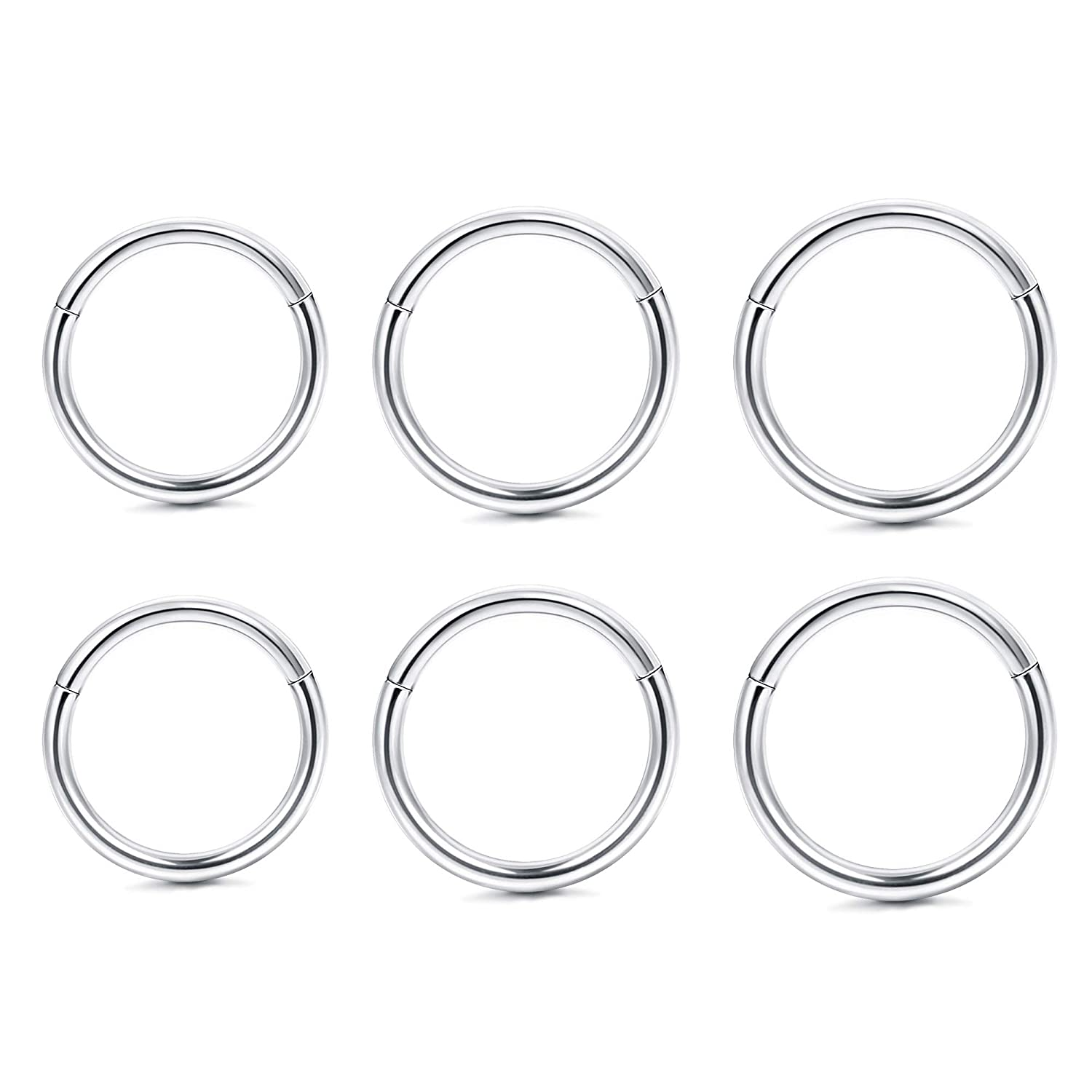 6fa87980c2ff1 Amazon.com: LOYALLOOK 18G 3Pairs Stainless Steel Cartilage Earrings ...