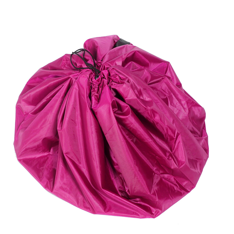 TUKA XXL ni/ños Bolsa de Limpieza Spieldecke Jugar Estera de los Juegos Simples y Poner en Orden TKD4005 Pink Bolsa de Almacenamiento de Juguetes Pink Bolsa de Almacenaje para Juguetes