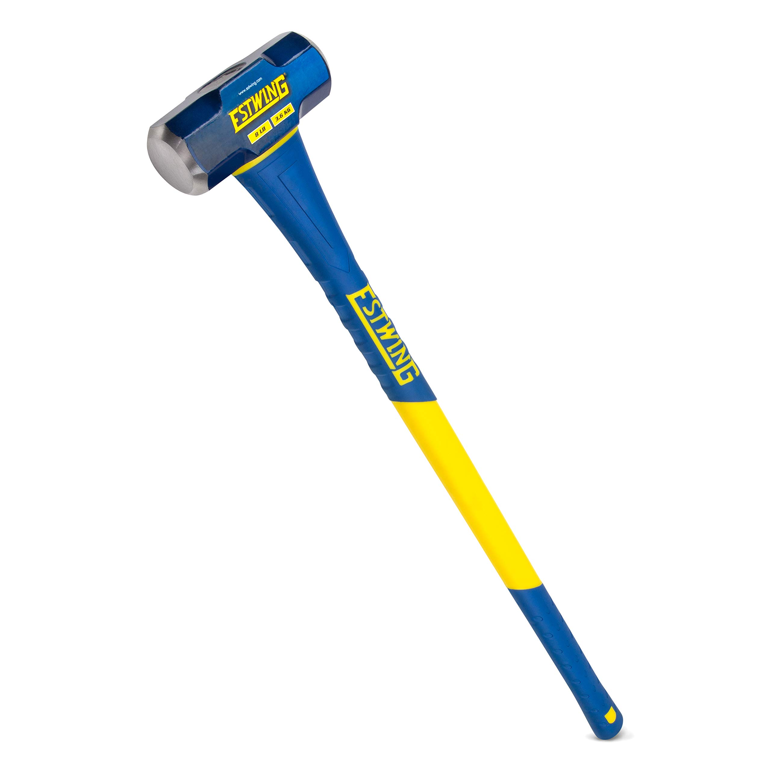 Estwing 8-Pound Hard Face Sledge Hammer, 36-Inch Fiberglass Handle (ESH-836F) by Estwing