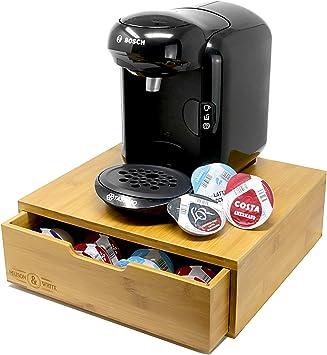 Titular de bamboo para 64 vaina de Tassimo de Maison & White   Organizador de cajón de madera elegante cápsula   Soporte para máquina de café: Amazon.es: Electrónica