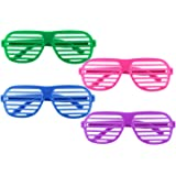 12 Pairs of Plastic Shutter Glasses Shades Sunglasses Eyewear Party Props Assorted Colors By Super Z Outlet