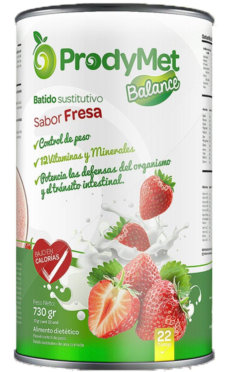 Batido Nutricional Sustitutivo Sabor Fresa Prodymet Balance 730 gr ...