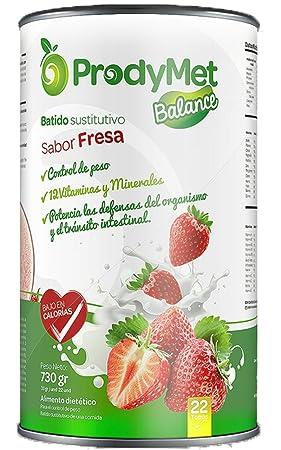 Batido Nutricional Sustitutivo Sabor Fresa Prodymet Balance 730 gr.: Amazon.es: Salud y cuidado personal