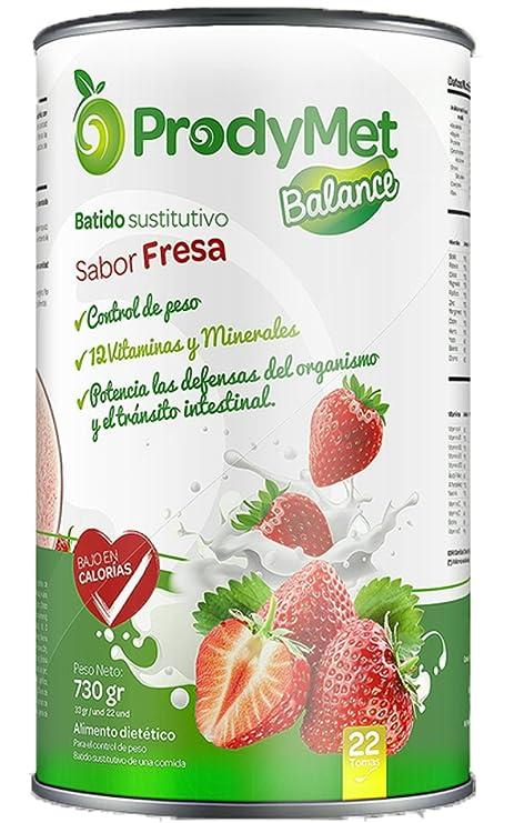 Batido Nutricional Sustitutivo Sabor Fresa Prodymet Balance 730 gr.