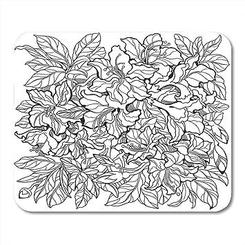 Almohadillas para mouse Páginas Flores blancas de azalea en ...
