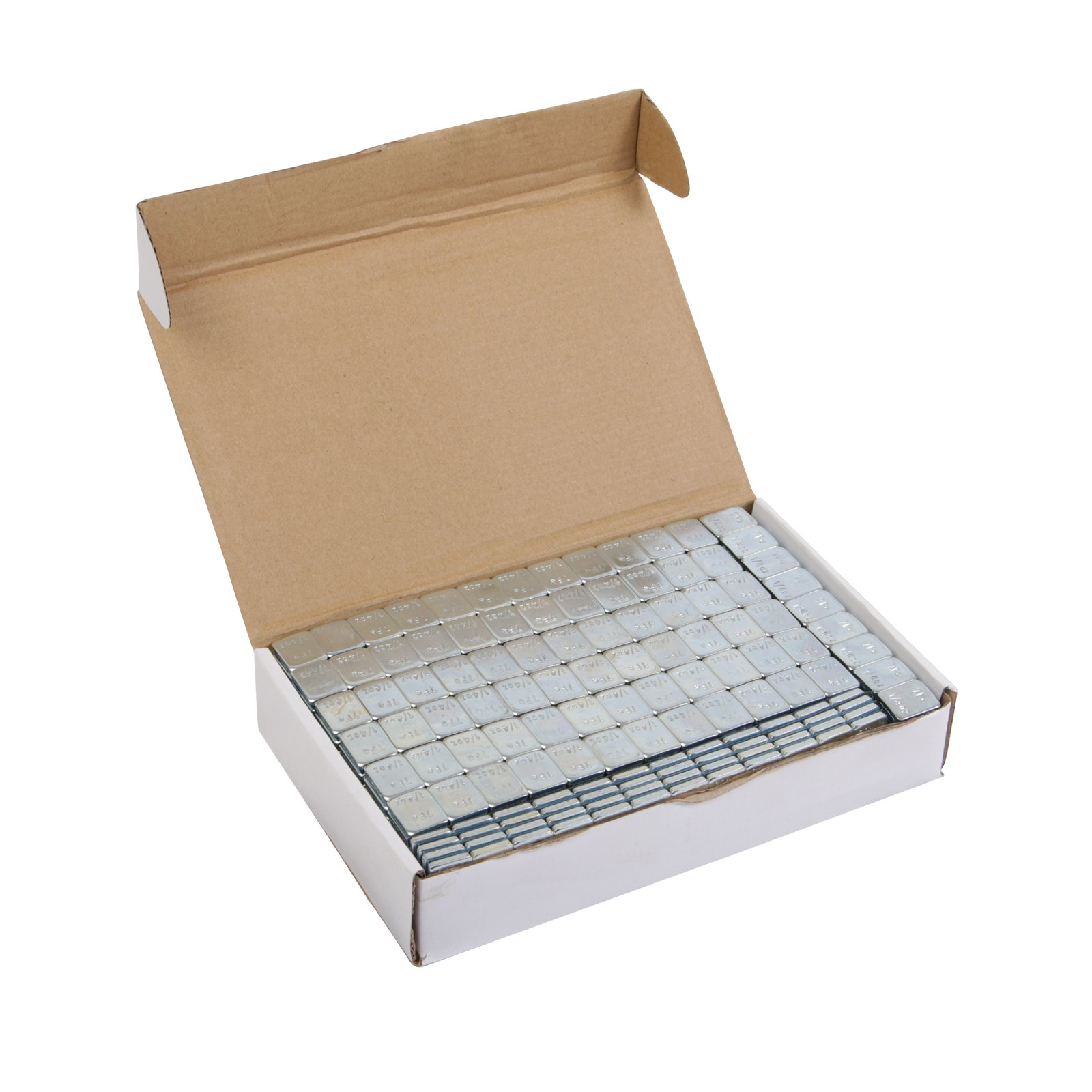 (4) Boxes - 1/4 ounce Wheel Weights Zinc Plated (Lead Free) Strips Adhesive Sticker Backing (816oz total, 68 3-oz strips, ~51lb/pounds) Silver