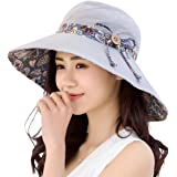HAPEE Womens Sun Hat,Both Sides wear,UPF 50+ Beach Hat Foldable Wide Brim Reds