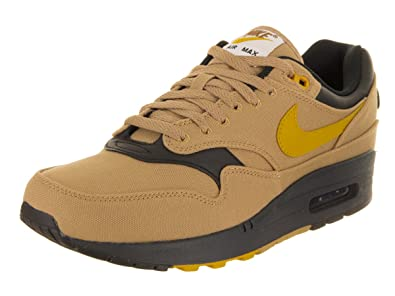Nike Men's AIR MAX 1 Premium Shoe GoldYellowBlack (8.5 D(M) US)