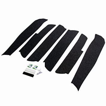 Red Hound Auto Door Entry Guard Scratch Shield Compatible with Dodge Durango 2011-2019 4 Door 6pc Custom Fit Door Sill Scuff Paint Protector