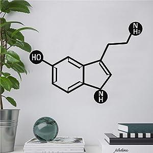 Tamengi Metal Wall Decor, Serotonin Molecule, Metal Wall Art, Biology Chemistry Art, Serotonin Symbol, Happy Chemical Wall Decor, Serotonin Sign