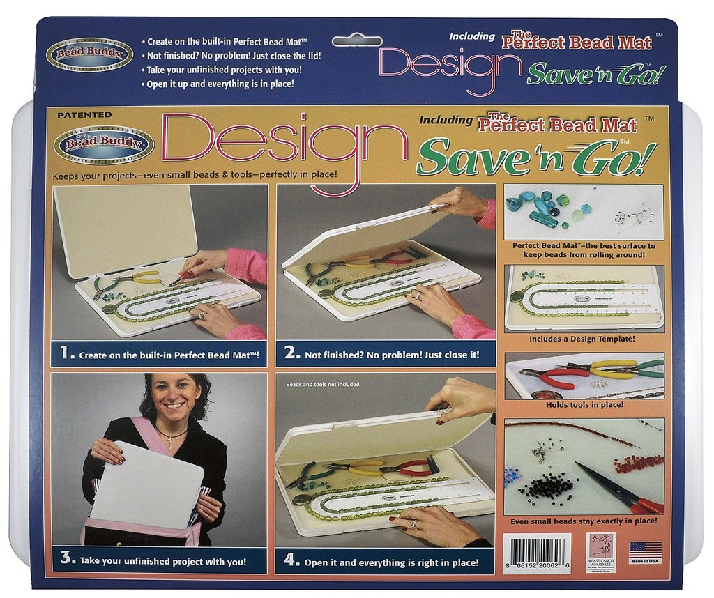 Bead Buddy Design Save and Go Portable Beading Kit - Beading Project Organizer - Dimensions 16 Inches by 12 Inches by 1 Inch by Bead Buddy