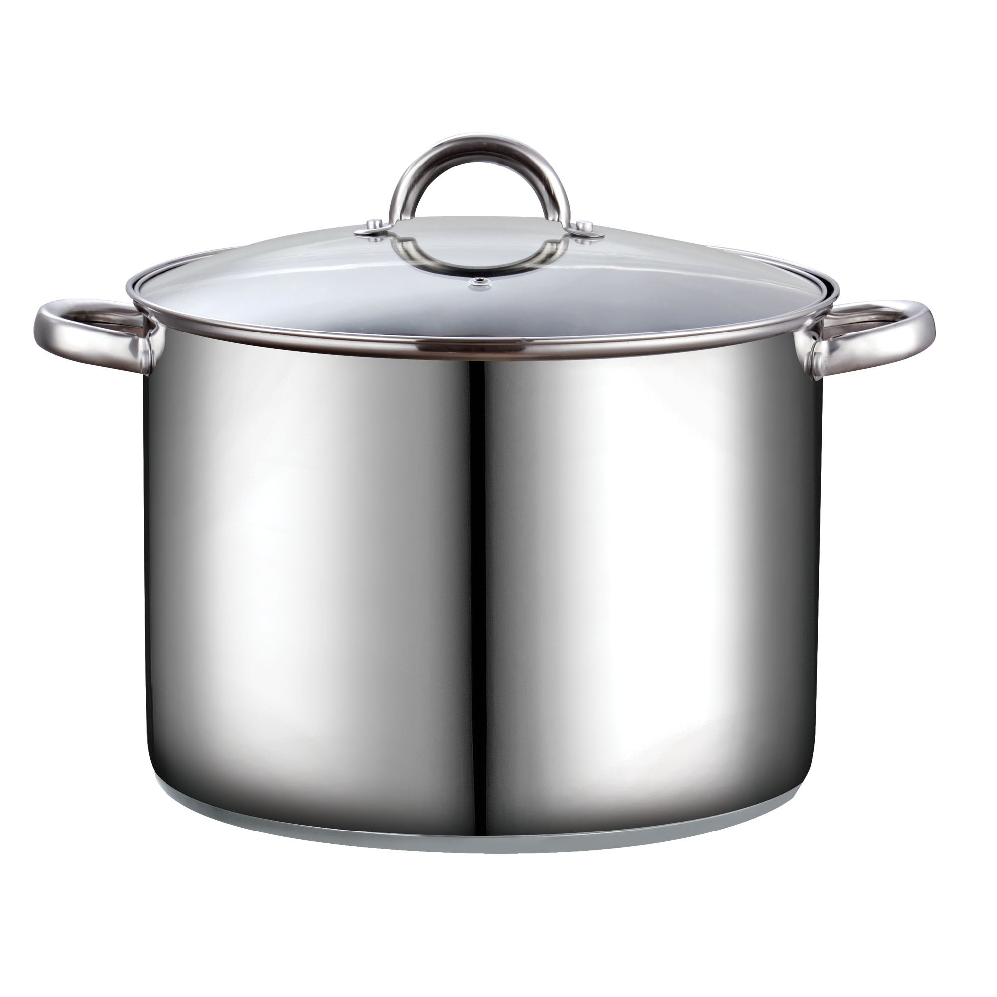 Cook N Home 16 Quart Stockpot with Lid, Stainless Steel by Cook N Home