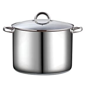 Cook N Home 16 Quart Stockpot with Lid, Stainless Steel