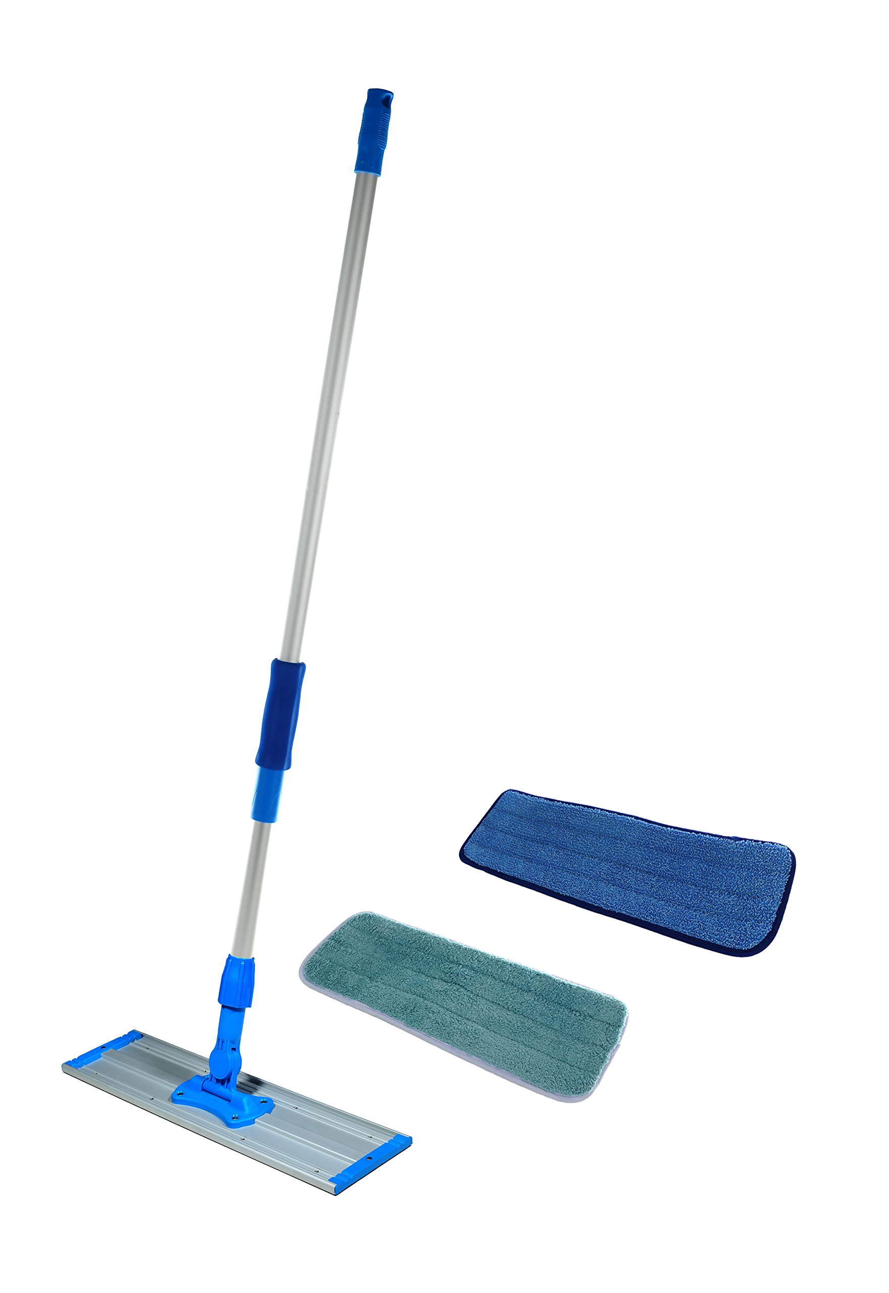 Real Clean Commercial and Janitorial 36'' Microfiber Mop, Telescoping Aluminum Handle and Two Microfiber Pads