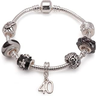 Liberty Charms Children's Eid 'Twinkling Moon and Star' Silver Plated Charm Bead Bracelet